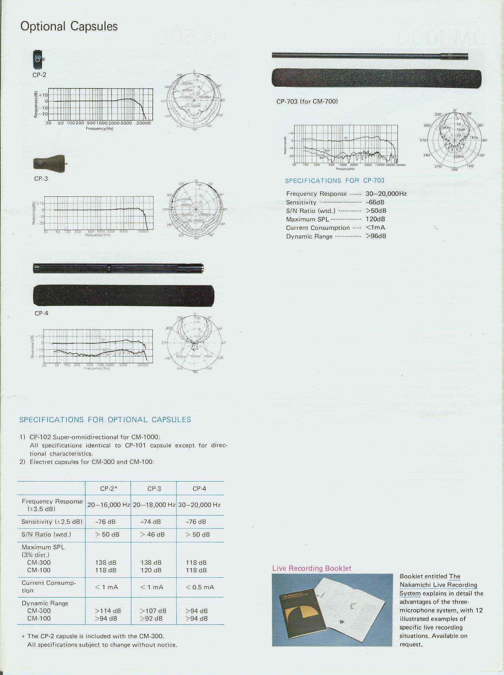 Nakamichi Model List Headset Nbe 250 Brochure Page